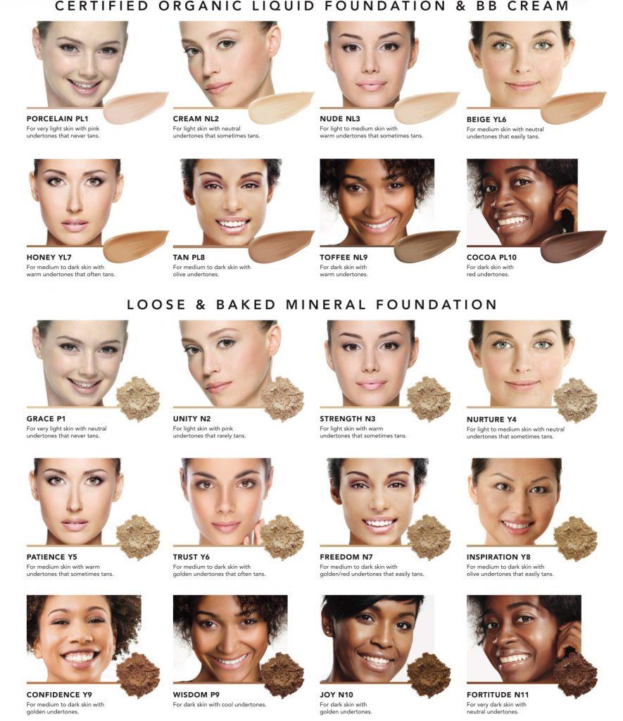 Inika makeup shades